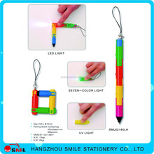 plastic disposable led light ballpoint pen