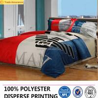 100% polyester flocking printing bedding fabric/dubai home textile importers