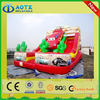 Newest best sell fire truck inflatable water slide