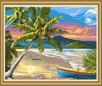 40*50cm coconut tree painting natural scenery coconut tree art painting
