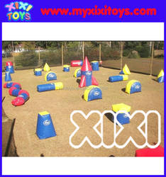 Newest funny 0.9mm PVC Inflatable Paintball Bunkers for sale