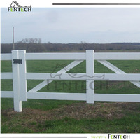 Uv proof Pvc 3 rail ranch fence gate