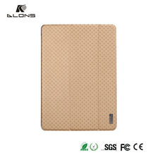 Brand of Dlons!!! New arrival PU leather flip for Apple ipad air case ,stand smart case cover for ipad air 2