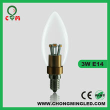 LED 4W Candelabra E12 base 40W halogen replacement candle light 2700k