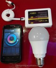 Factory direct sales Milight 1pcs RGBW wifi bulb 9W Mi light E27 LED bulb AC86-264V 16million color wifi led bulb