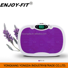 Ultrathin body shaper vibration machine crazy fit massage with MP3,/bluetooth/remote control