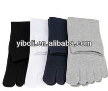 Factory delivery Five toe sock for men with fancy pattern