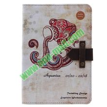 12 Constellation Pattern Retro Style Flip Leather Case for iPad Air