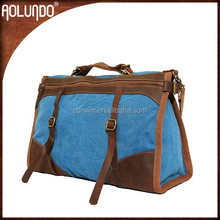 OEM factory fashion canvas leather hand bags