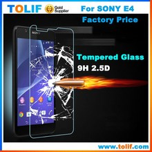 Gold Supplier Premium 9H 0.33mm 2.5D High Clear Full Cover Ultra Thin Tempered Glass Screen Protector For Sony Xperia E4