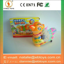 20cm plastic B/O plastic toy birds with light music