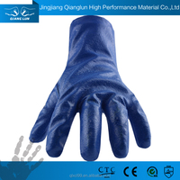 QL pvc coated gloves chemical protection gloves chemical resistant glove