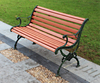 city construction street metal frame outdoor wpc wooden long bench