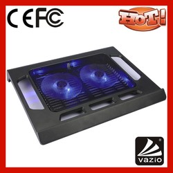 iDock B01 2 big blue light LED fans usb black colour multifuction laptop cooling pad