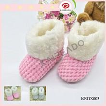 ZAPATOS KRD 2015 Mocasines de alta calidad para bebé De crochet tacto suave botas de invierno para bebé