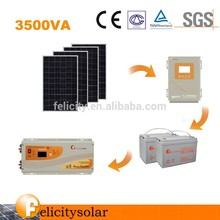 1KW 24V/220V home solar power electricity generating system with ISO9001-2008