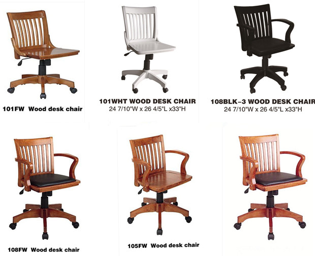 Silla de oficina de madera de lujo de estilo antiguo for Sillas para oficina de madera