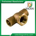 Alta qualidade preço de fábrica personalizado npt rosca fêmea 1/2 - 4 polegada cw617n carcaça de bronze tee montagem