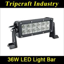 Factory wholesale 36W LED LIGHT BAR 6120lm car truck atv mining boat light 4WD off road Led 4x4 Light Bar