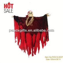 OVERSIZED red led eyes Hanging SKELETON Halloween Prop Decoration NEWover 3 feet Hanging SKELETON HALLOWEEN HOME DECOR SCARY
