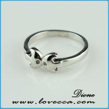 hotsale kissing fish shaped love rings, kiss fish shape rings