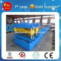 Tiles glazed vending line , metal channeling for sale , stepped roofing mill