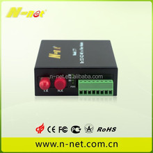 RS485/RS422/RS232 to fiber serial device server fiber modem
