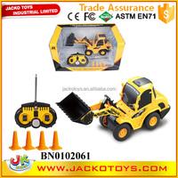 Hot sale kids toy radio control truck 1:20 6 cahnnels rc dump truck bulldozer