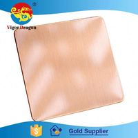 Super Quality Decorative Surface Colorful Stainless Steel 201 Egyptian Copper Plates