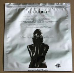 foil plastic face mask bag