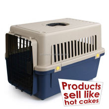 """Latest technology sloping puppy cage folding dog crate with non-chew metal tray with slanted front for car 24"""" black"""