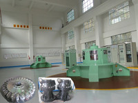 Stable strong & hydroelectric impulse water turbine efficiency improvement with turbine generator