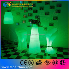 glass top led bistro table for sale/led glass bar table