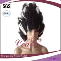 Cheap Bride of Frankenstein Black and White halloween party wig