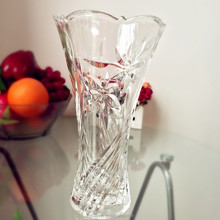 Personalized gift packing engraved crystal vase rose glass vase(glass factory)