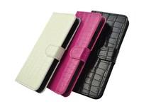 Luxury crocodile grain genuine leather phone case for iphone 6