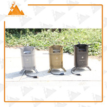 Portable high altitude wood burning powerful stove camping