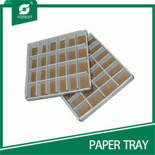 LARGE DISPOSABLE WHITE PAPER TRAYS WITH 24 COMPARTMENTS
