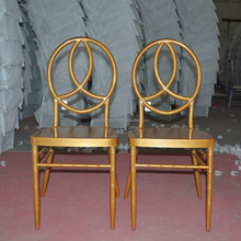 China supply Unquie style gold color chiavair dining chair XYN1082
