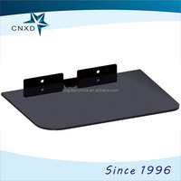 One Laye glass DVD/ STB stand/bracket with cable manager
