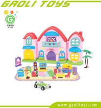 New high quality plastic baby doll house villa furniture play set toy