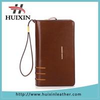 2015 Popular Design Multi-purpose Leather Zipper Wallet for Men