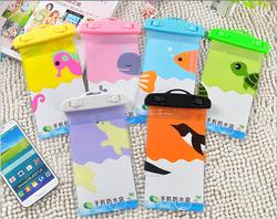 various cartoons swimming cute pvc waterproof dry bag for mobile phone