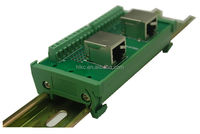 RJ45 Breakout Board with 2 RJ45 8P8C Jacks and 2 *8pins terminal blocks