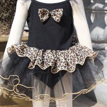 2015 nuevo estilo negro alta calidad linda chica vestido del ballet, traje de ballet para los niños