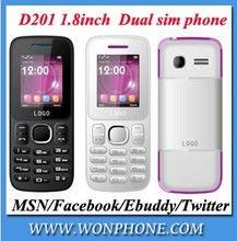 New arrival Low cost D201 Moible Phones Dual sim card