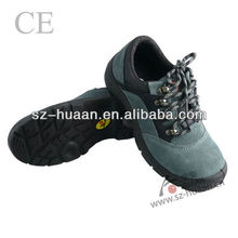PU bottom, Suede split, steel toe anti-smashing safety shoes