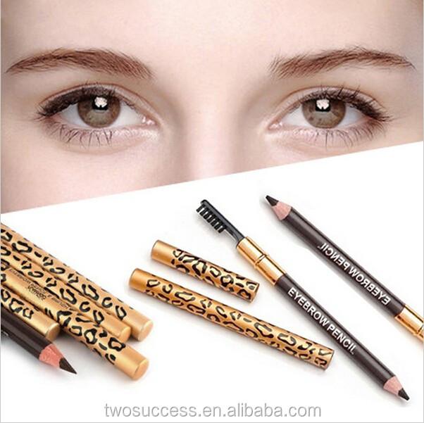 Dual-use waterproof eyebrow pencil with brush long lasting color eyebrow pencil