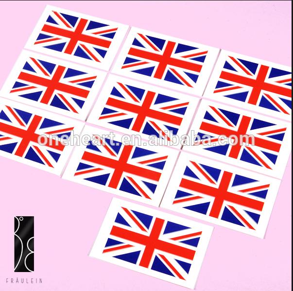 2014 heißer verkauf England landesflagge tätowierung aufkleber
