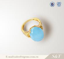 Original design 925 silver Special offer aquamarine true love waits ring